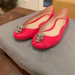 Skull Ballet Flat McQueen PINK!
